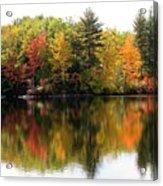 Bunganut Lake Maine Foliage 10 2016 Acrylic Print