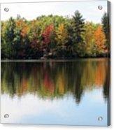 Bunganut Lake Maine Foliage 11 2016 Acrylic Print