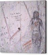 Bunker Graffiti Acrylic Print