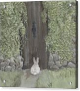 Bunny At The Gate Acrylic Print