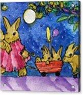 Bunny Parade Acrylic Print
