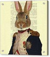 Bunny Portrait Illustration Acrylic Print