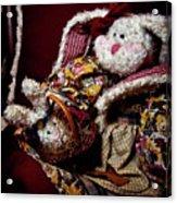 Bunny With Her Bunny Acrylic Print