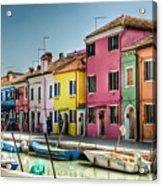 Burano Canal Acrylic Print