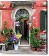 Burano Flower Shop Acrylic Print