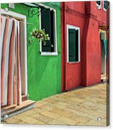 Burano Street Acrylic Print