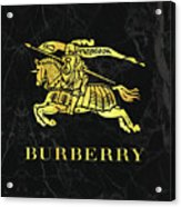 Burberry - Black And Gold - Lifestyle And Fashion Acrylic Print