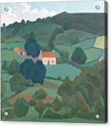 Burford Farm, Devon, 1918 Acrylic Print