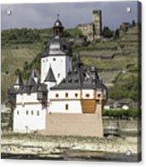 Burg Pfalzgrafenstein And Burg Gutenfals Squared Acrylic Print