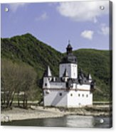 Burg Pfalzgrafenstein Squared Acrylic Print