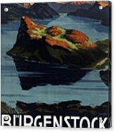 Burgenstock - Lake Lucerne - Switzerland - Retro Poster - Vintage Travel Advertising Poster Acrylic Print