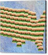 Burger Town Usa Map Acrylic Print