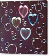 Burgundy Bubbles Acrylic Print