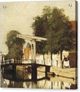 Burgwal Met De Hagebrug Te Haarlem Acrylic Print