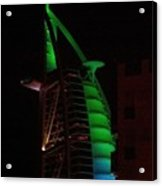 Burj Al Arab Dubai Night Acrylic Print