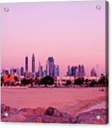 Burj Khalifa Previously Burj Dubai At Sunset Acrylic Print