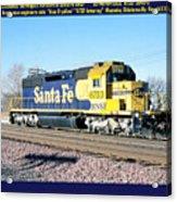 Burlington Northern Santa Fe Bnsf Acrylic Print