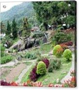 Burma Village Garden And Pond Acrylic Print