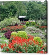 Burma Village Garden Acrylic Print
