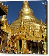 Burma's Golden Pagoda Acrylic Print