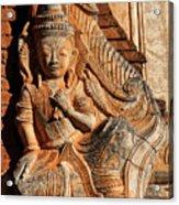 Burmese Pagoda Sculpture Acrylic Print