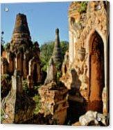 Burmese Pagodas In Ruins Acrylic Print
