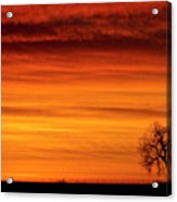 Burning Country Sky Acrylic Print