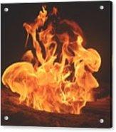 Burning Fire Acrylic Print by Stephanie  Varner