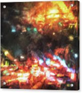 City Of Burning Lights Acrylic Print