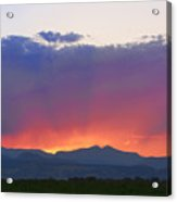 Burning Rays Of Sunset Acrylic Print