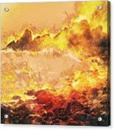 Burning Shore Acrylic Print