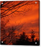 Burning Sky Acrylic Print