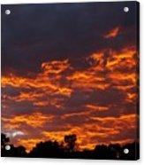 Burning Sunrise Skies Acrylic Print