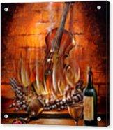 Burning Violin Acrylic Print