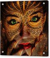 Burnished Gold Acrylic Print