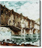 Burnt Covered Bridge Acrylic Print
