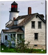 Burnt Island Lighthouse Side View Acrylic Print