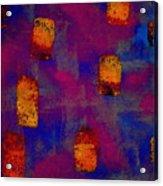 Burnt Orange Floating Acrylic Print
