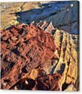 Burnt Orange Wave Of Sandstone In Valley Of Fire Acrylic Print