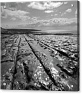 Burren Limestone Landscape In Ireland Acrylic Print