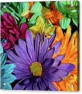 Bursting Colors Acrylic Print