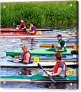 Burton Canoe Race At The Start Acrylic Print