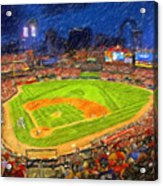 Busch Stadium At Night Rocks Acrylic Print