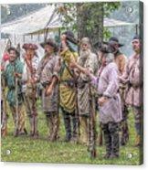 Bushy Run Milita Camp Roll Call Acrylic Print by Randy Steele