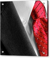 Business Suit White Shirt Red Tie Formal Wear Fashion Acrylic Print