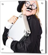 Business Woman In Disguise Acrylic Print