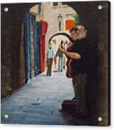 Buskers, Kilkenny Acrylic Print