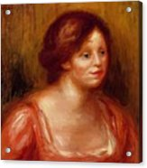 Bust Of A Woman In A Red Blouse Acrylic Print