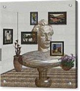 Bust Of The Spirit Of Einstein 1 Acrylic Print