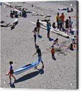 Busy Beach Acrylic Print